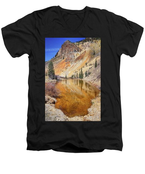 Mountain Reflections Men's V-Neck T-Shirt