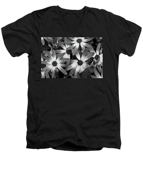Multiple Daisies Flowers Men's V-Neck T-Shirt