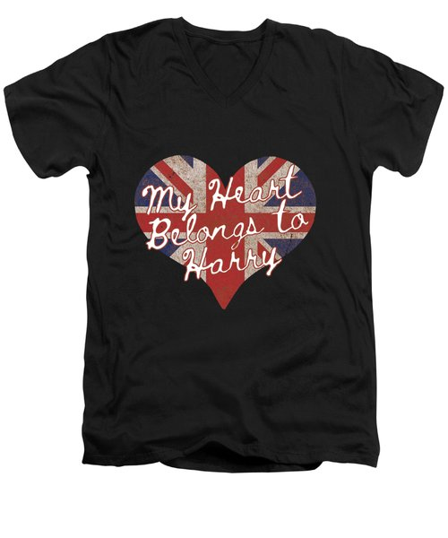 My Heart Belongs To Prince Harry Men's V-Neck T-Shirt