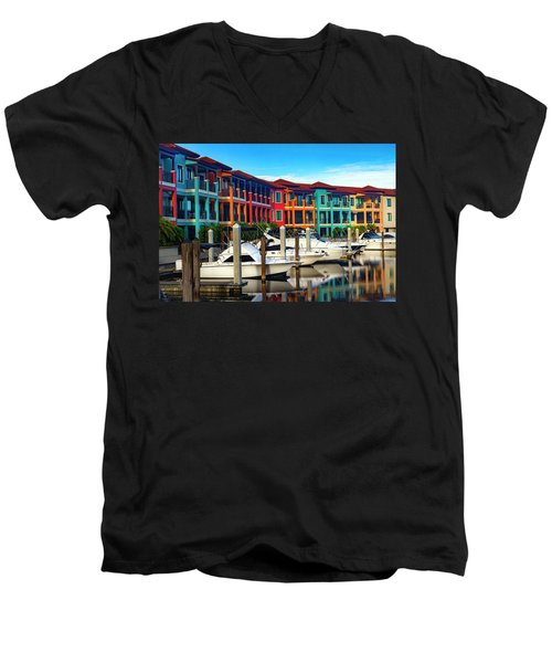 Naples Florida Series 9199 Men's V-Neck T-Shirt