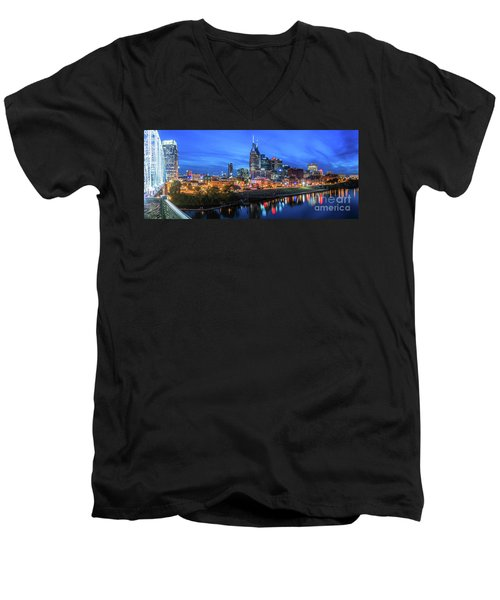 Nashville Night Men's V-Neck T-Shirt