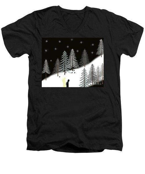 Never Alone Men's V-Neck T-Shirt