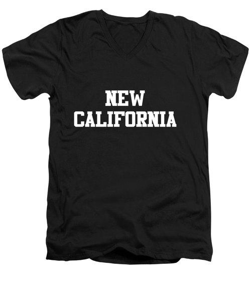 New California Men's V-Neck T-Shirt