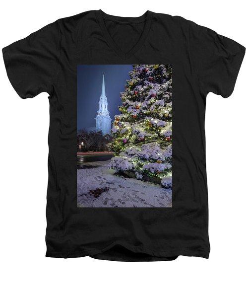 New Snow For Christmas Men's V-Neck T-Shirt