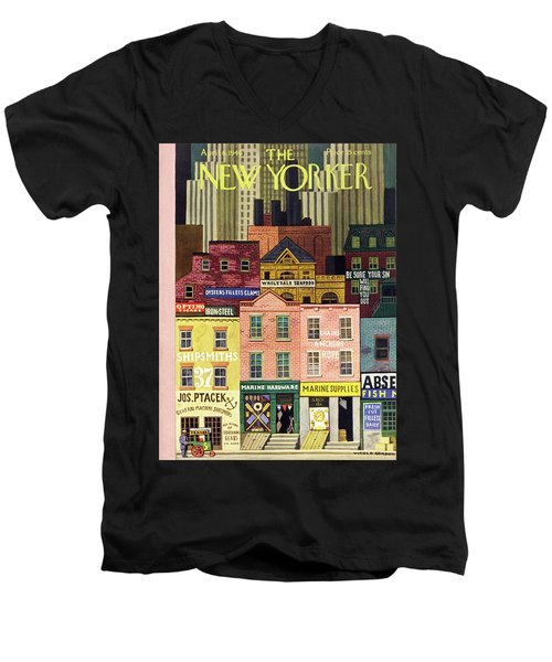 New Yorker April 6th 1946 Men's V-Neck T-Shirt