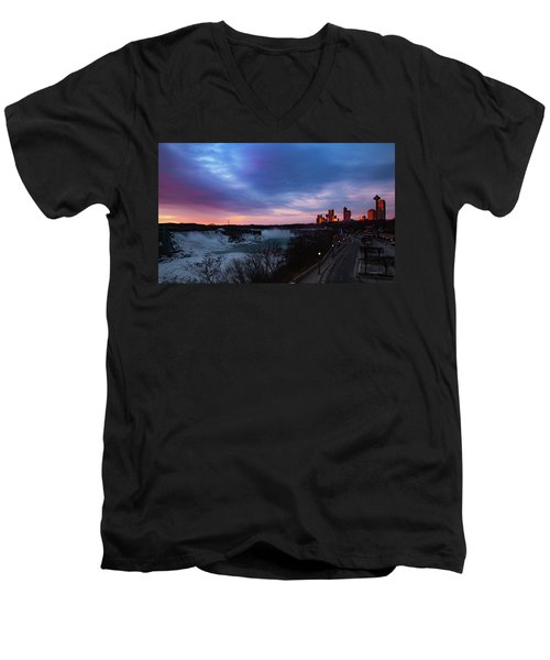 Niagara Falls At Sunrise Men's V-Neck T-Shirt