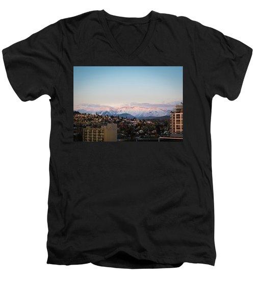 Northshore Winterscape Men's V-Neck T-Shirt