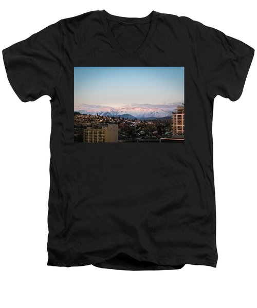Northshore Winterscape Men's V-Neck T-Shirt