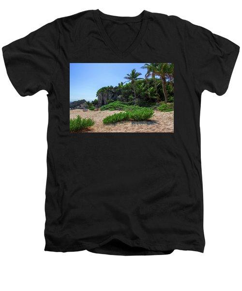 On The Coast Of Tulum Men's V-Neck T-Shirt