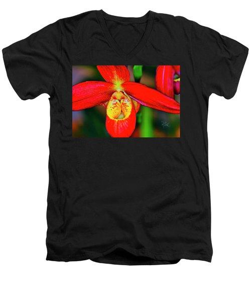 Orchid Study Seven Men's V-Neck T-Shirt