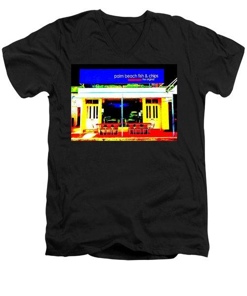 Palm Beach Australia - Fish And Chips Men's V-Neck T-Shirt
