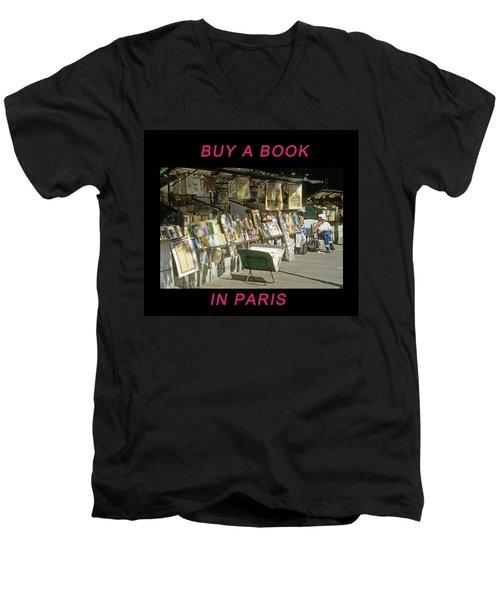 Paris Bookseller Men's V-Neck T-Shirt