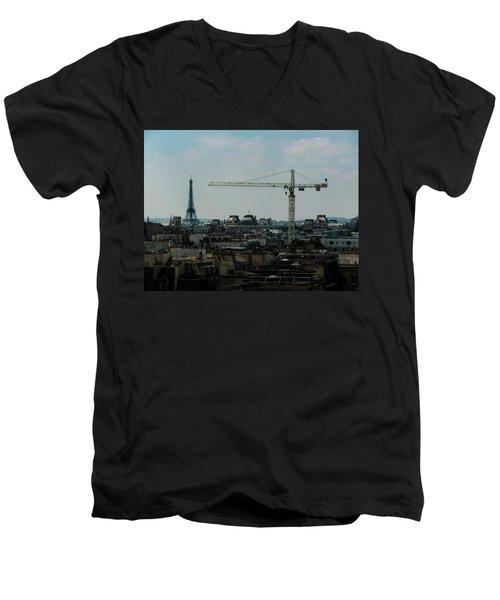 Paris Towers Men's V-Neck T-Shirt