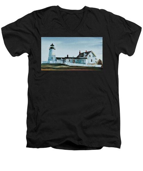 Pemaquid Light Men's V-Neck T-Shirt