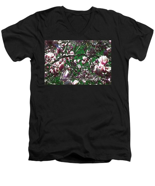 Pink Bush Men's V-Neck T-Shirt