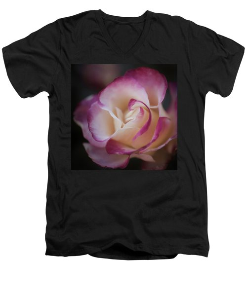 Pink Kiss By Tl Wilson Photography  Men's V-Neck T-Shirt