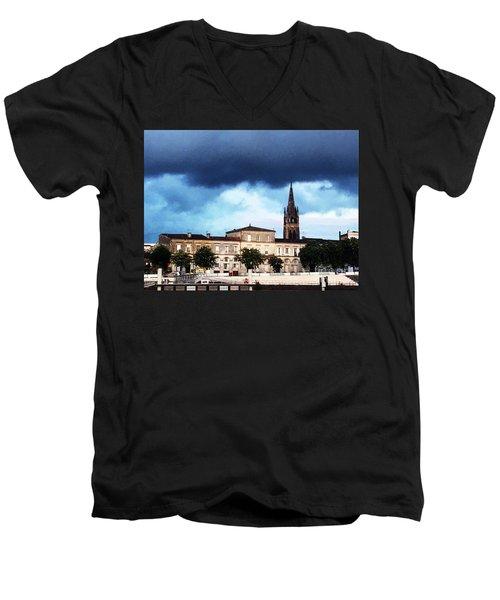 Poking The Storm Men's V-Neck T-Shirt