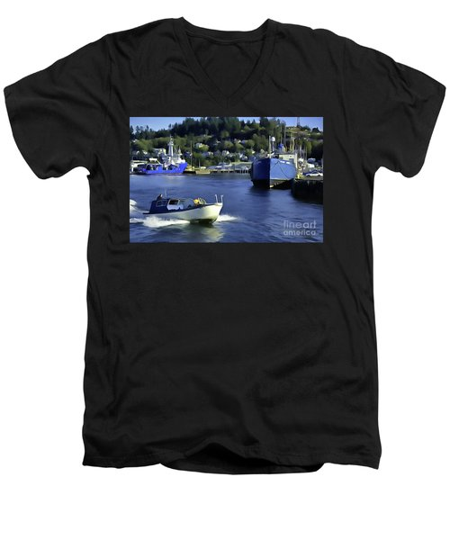 Port Of Astoria Oregon Men's V-Neck T-Shirt