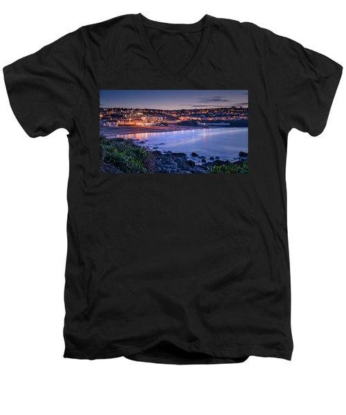 Porthmeor - Long Exposure Men's V-Neck T-Shirt