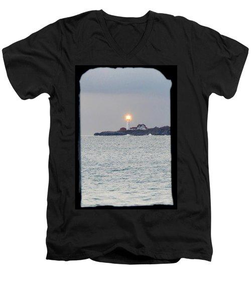 Portland Head Lighthouse Through The Gun Port Men's V-Neck T-Shirt