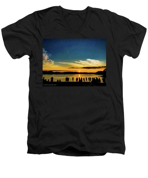 Portland Pauls Sunset Men's V-Neck T-Shirt
