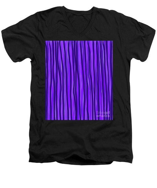 Purple Lines Men's V-Neck T-Shirt