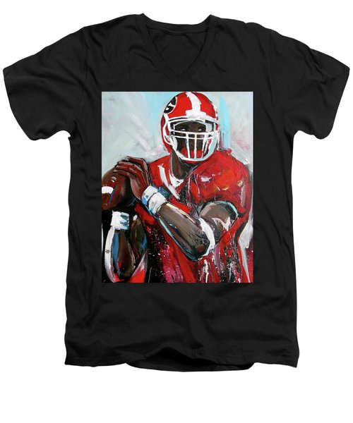 Quarterback Men's V-Neck T-Shirt