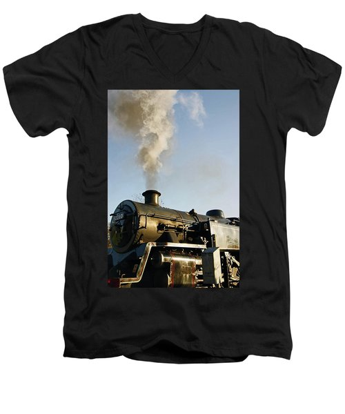 Ramsbottom. East Lancashire Railway. Locomotive 80080. Men's V-Neck T-Shirt