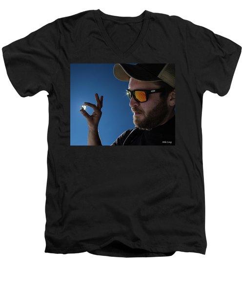Rare Obsidian  Men's V-Neck T-Shirt