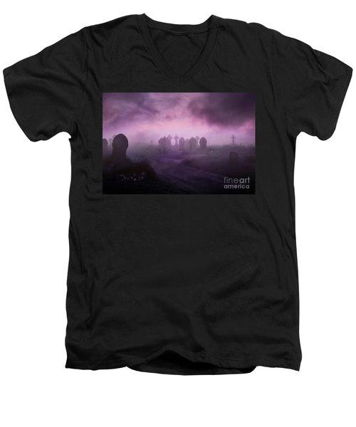 Rave In The Grave Men's V-Neck T-Shirt