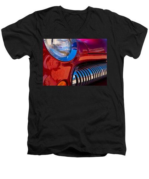 Red Car Chrome Grill Men's V-Neck T-Shirt