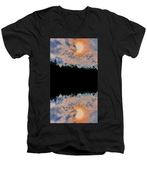 River Reflections Men's V-Neck T-Shirt