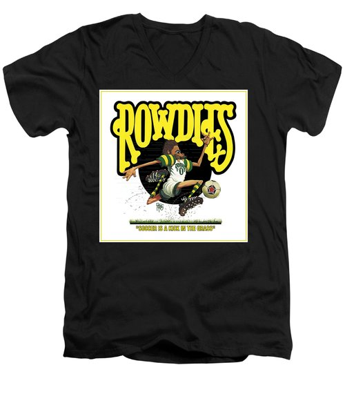 Rowdies Old School Men's V-Neck T-Shirt