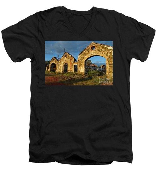 Ruins Of The Abandoned Mine Of Sao Domingos. Portugal Men's V-Neck T-Shirt