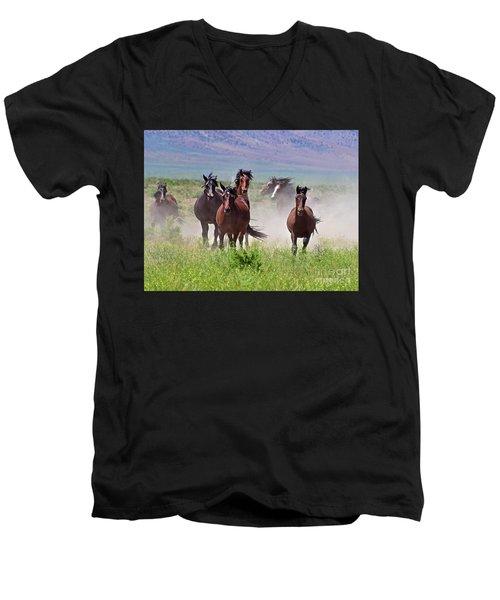 Running Together Men's V-Neck T-Shirt