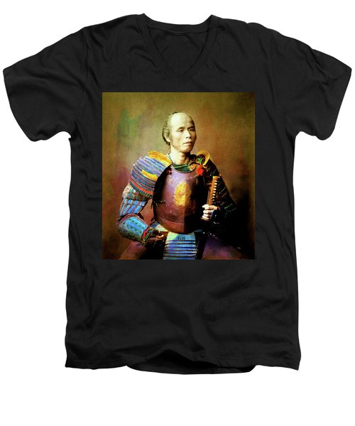 Samurai Warrior Remastered Men's V-Neck T-Shirt