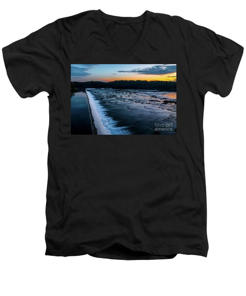 Savannah Rapids Sunrise - Augusta Ga Men's V-Neck T-Shirt