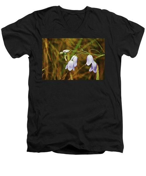 Scotland. Loch Rannoch. Harebells In The Grass. Men's V-Neck T-Shirt