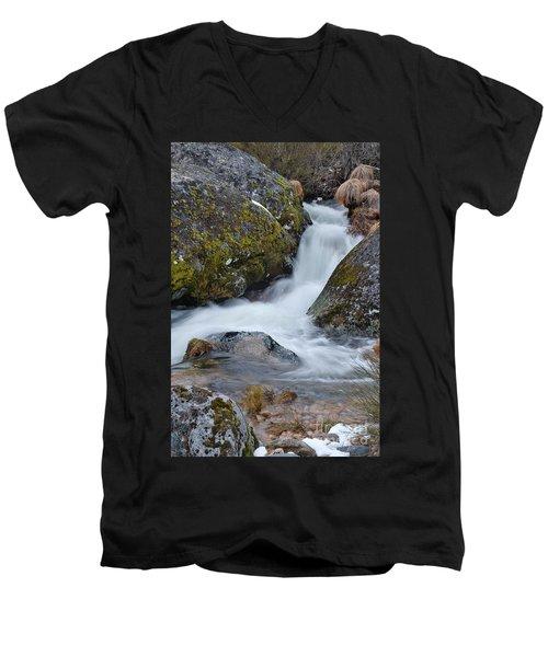 Serra Da Estrela Waterfalls. Portugal Men's V-Neck T-Shirt