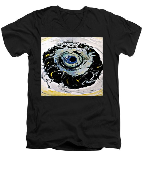 Men's V-Neck T-Shirt featuring the painting Sgc.m87  by 'REA' Gallery