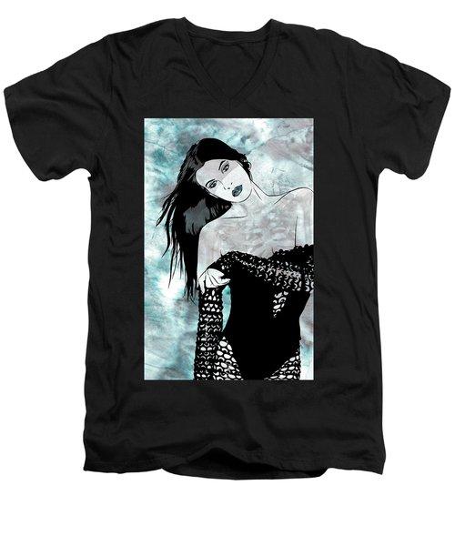 Sheer Men's V-Neck T-Shirt