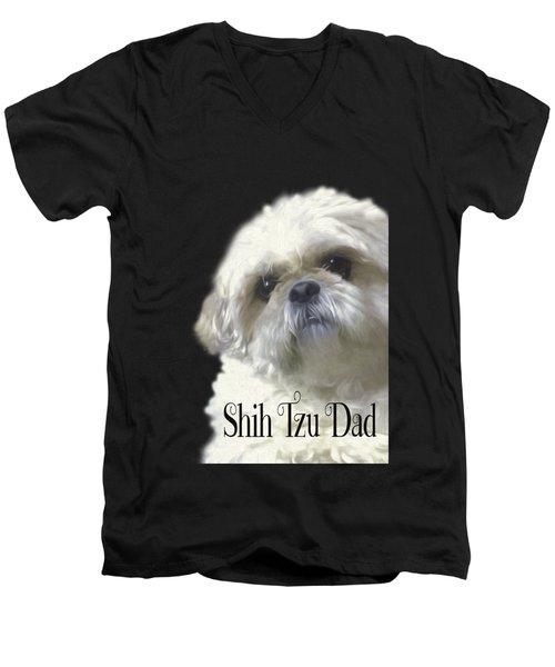 Shih Tzu For Dad Men's V-Neck T-Shirt