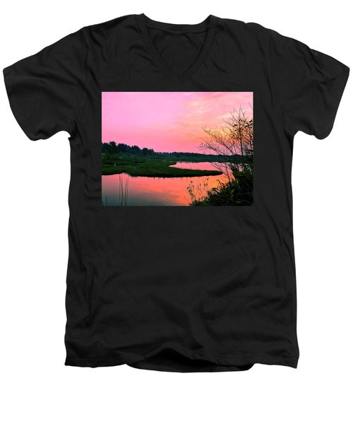 Sitka Sedge Sunset Men's V-Neck T-Shirt