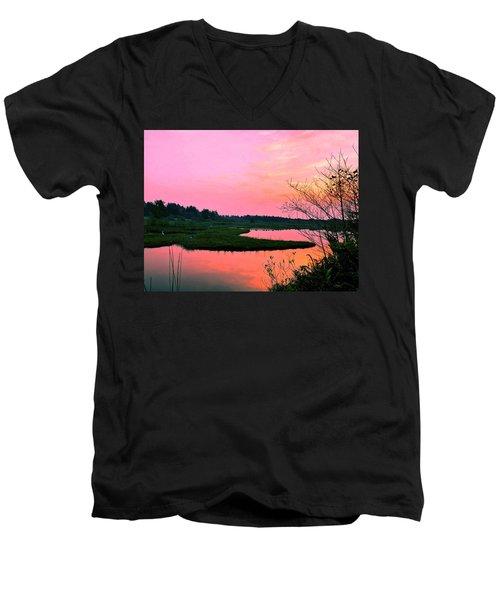Sitka Sedge Sunset Men's V-Neck T-Shirt