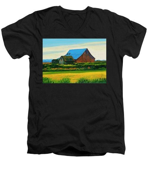 Skagit Valley Barn #4 Men's V-Neck T-Shirt