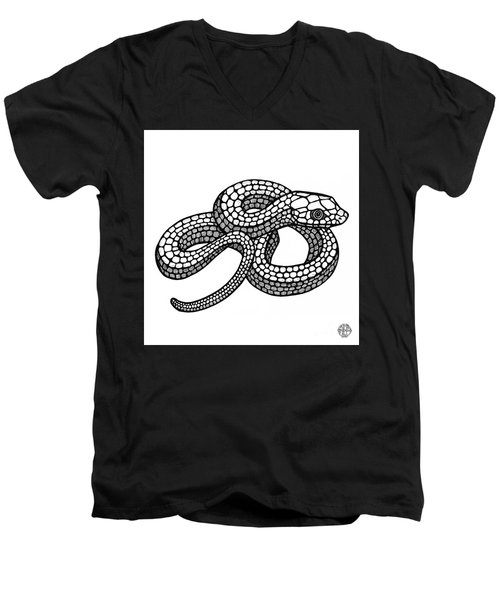 Smooth Green Snake Men's V-Neck T-Shirt