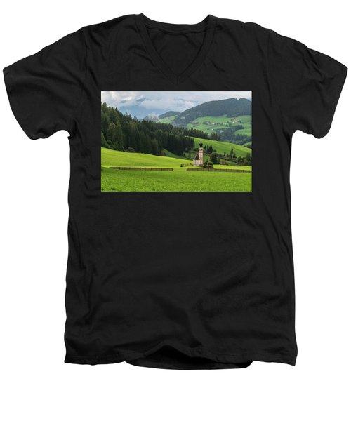 St Johann From The East Men's V-Neck T-Shirt