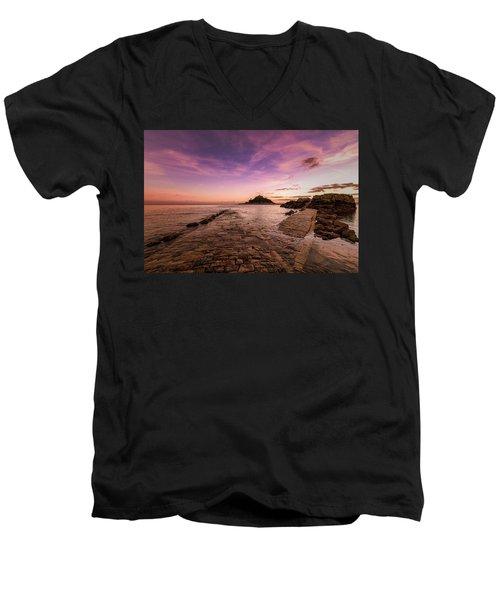 St Michael's Mount - January Men's V-Neck T-Shirt