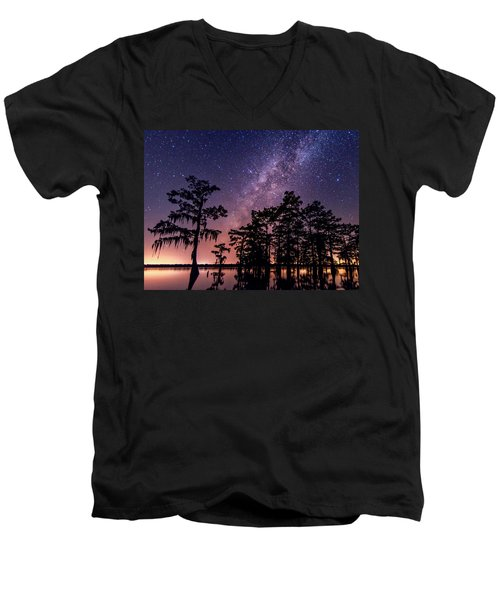 Men's V-Neck T-Shirt featuring the photograph Star Bright by Andy Crawford