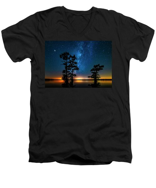 Men's V-Neck T-Shirt featuring the photograph Star Gazers by Andy Crawford